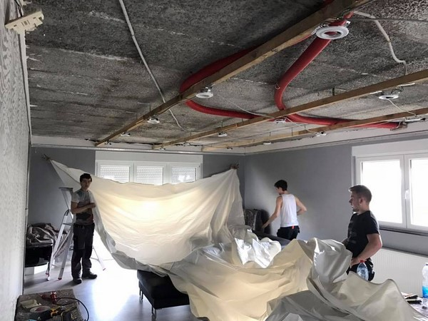 Plafonds tendus - AVANT